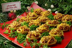 Mini Sausage-Stuffed Potatoes