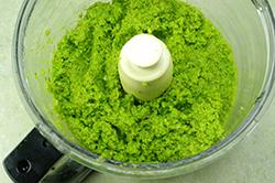 Peas in Food Processor