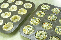 Filled Phyllo Cups