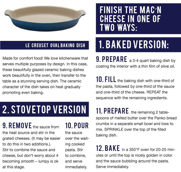 Bake or Finish on the Stovetop
