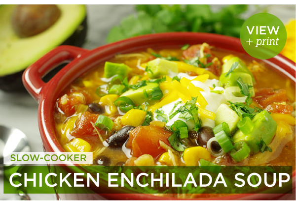 RECIPE: Slow-Cooker Chicken Enchilada Soup