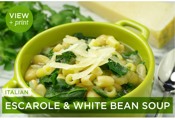 RECIPE: Italian Escarole and White Bean Soup