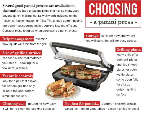 Choosing a panini press