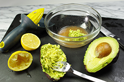 Making the Avocado Spread