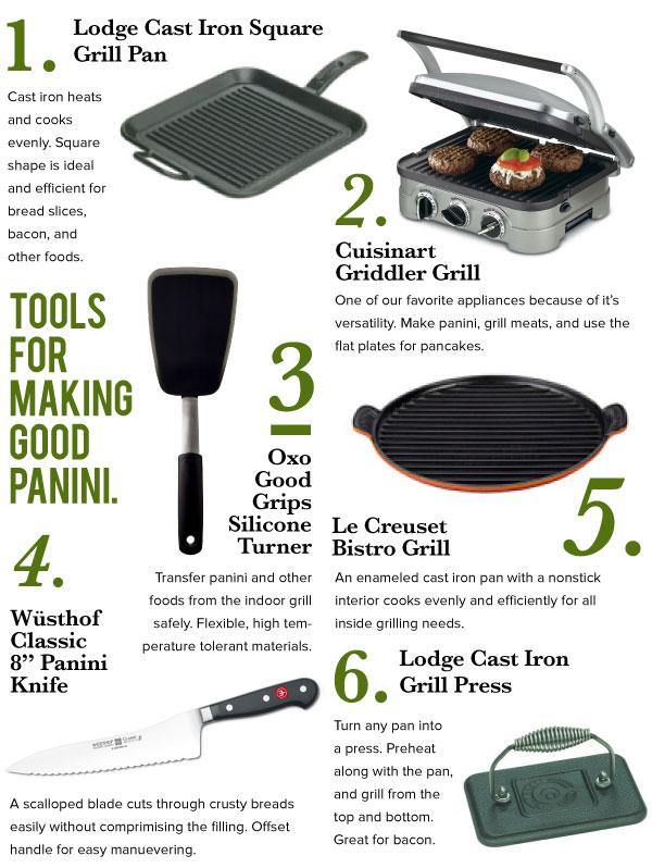 Tools for Making Good Panini