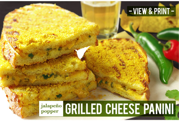 RECIPE: Jalapeno Popper Grilled Cheese Panini