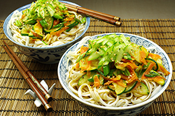 Yachae Gooksu (Vegetable Mixed Noodles)