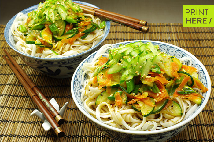 Yachae Gooksu (Vegetable Mixed Noodles)