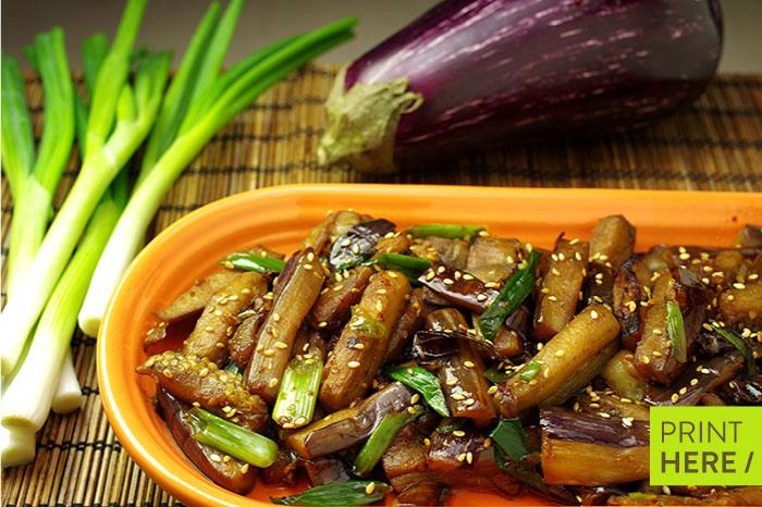 Gaji Namool (Sautéed Eggplant)