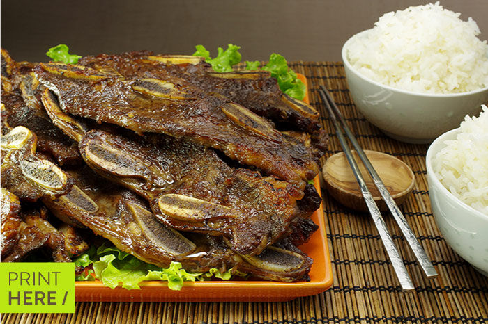 Galbi (Barbecued Beef Ribs)