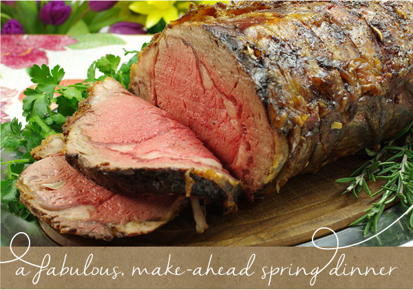 A Fabulous, Make-Ahead Spring Dinner