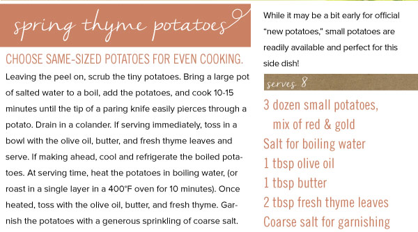 Spring Thyme Potatoe Recipe