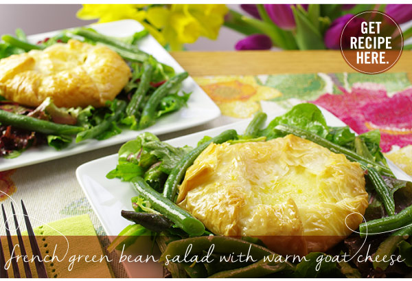 RECIPE: French Green Bean Salad with Warm Goat Cheese
