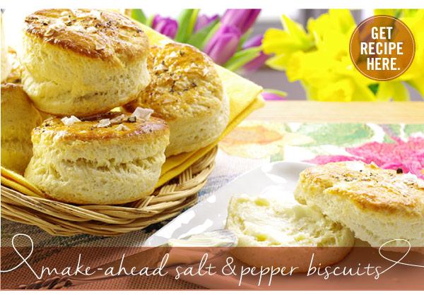 RECIPE: Make-Ahead Salt and Pepper Biscuits