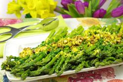 Asparagus with Lemon-Pistachio Gremolata