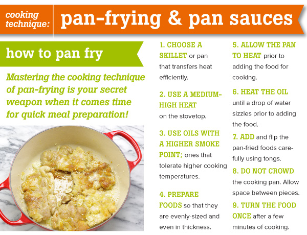 COOKING TECHNIQUE: Pan-frying and Pan Sauces