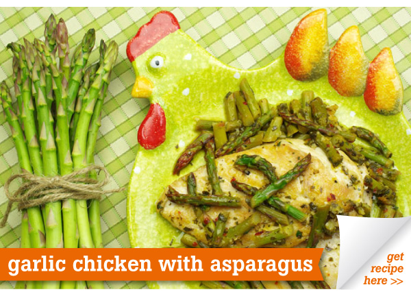 RECIPE: Garlic Chicken with Asparagus