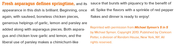 RECIPE: Garlic Chicken with Asparagus
