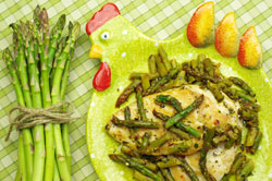 Garlic Chicken with Asparagus