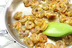 Sauteeing Shrimp