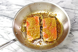 Frying Salmon