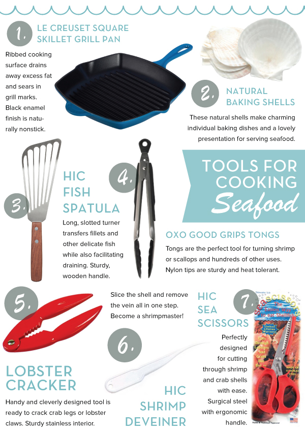 Tools for Cooking Seafood