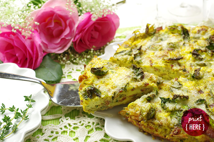 Brussels Sprouts and Bacon Frittata