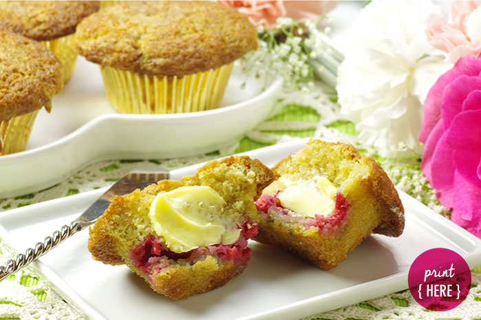 Vanilla Raspberry Muffins