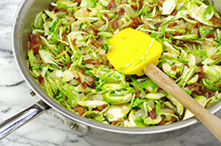Sprouts, Bacon and Onions
