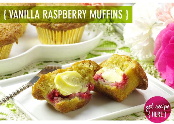 RECIPE: Vanilla Raspberry Muffins