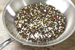 Toasting Peppercorns