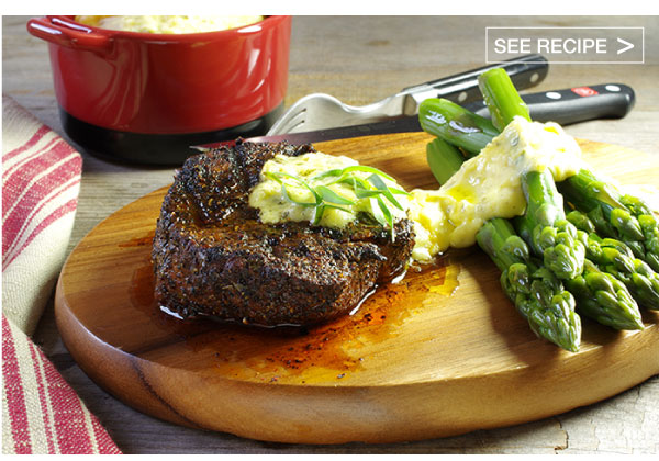 RECIPE: Creole, Coffee-Rubbed Filet Mignon with Bearnaise Sauce