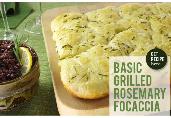 RECIPE: Basic Grilled Rosemary Focaccia