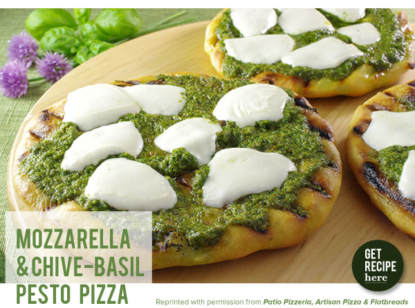 RECIPE: Mozzarella and Chive-Basil Pesto Pizza