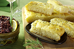Basic Grilled Rosemary Focaccia with Kalamata Olive Paste