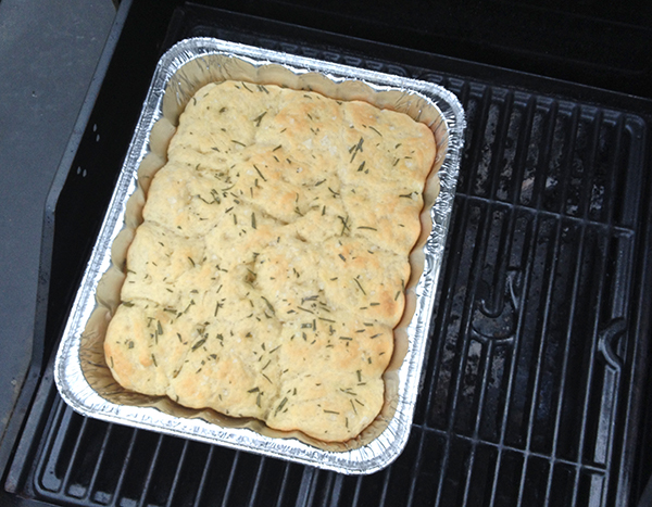 Baked Focaccia on the Grill