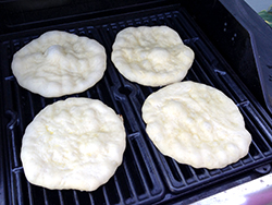 Dough on Grill