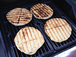 Dough on Grill Flipped