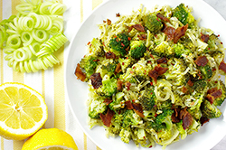 Lemon Garlic Broccoli with Bacon