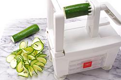 Spiralizing Zucchini Ribbons