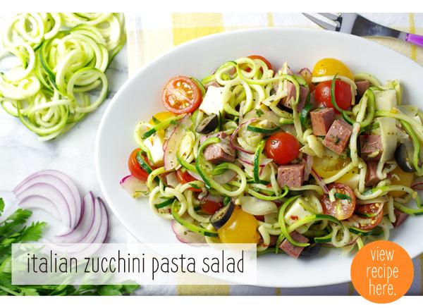 RECIPE: Italian Zucchini Pasta Salad