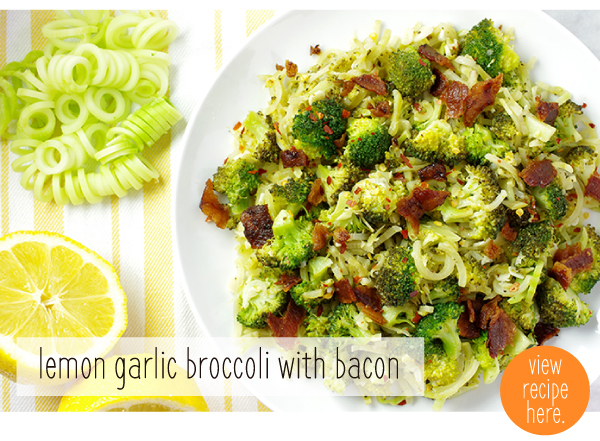RECIPE: Lemon Garlic Broccoli with Bacon