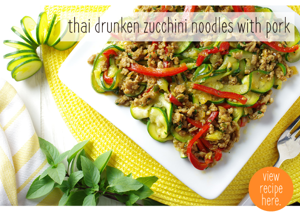 RECIPE: Thai Drunken Zucchini Noodles with Pork