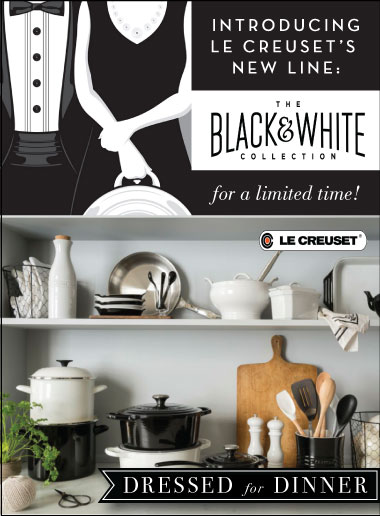 Le Creuset Black and White
