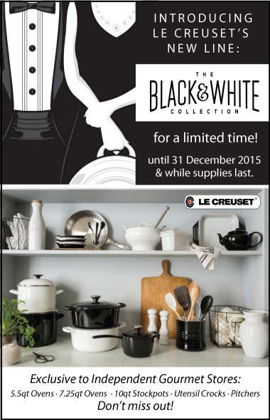 Le Creuset's Black and White Collection