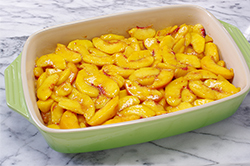 Peaches in Baking Dish