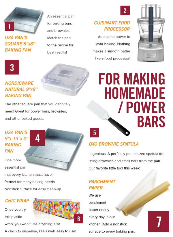 For Baking Homemade Power Bars