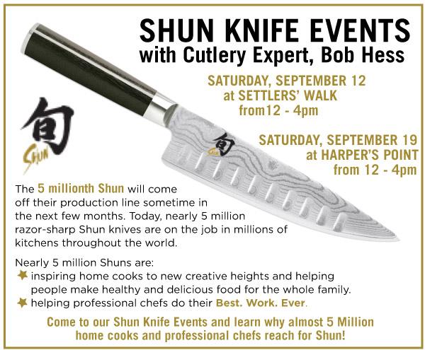 Shun Knife Events