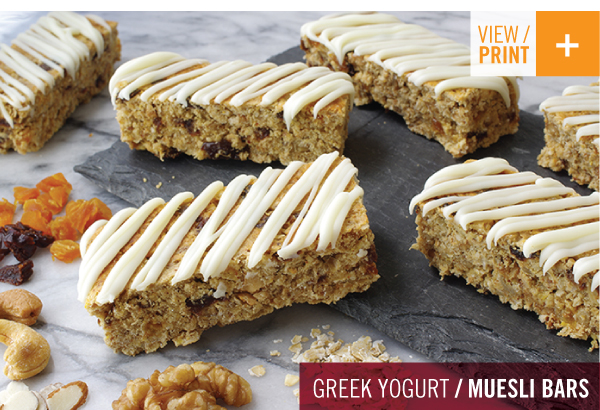RECIPE: Greek Yogurt Muesli Bars