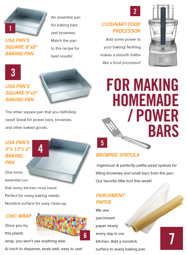 For Baking Homemade Power Bars